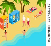 pensioners beach holiday... | Shutterstock .eps vector #1197531352