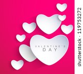 valentines day background with... | Shutterstock .eps vector #119753272