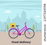 food delivery service concept... | Shutterstock .eps vector #1197534598