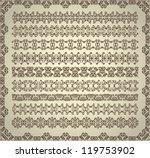 set of vintage ornaments for... | Shutterstock .eps vector #119753902