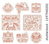 merry christmas monochrome... | Shutterstock .eps vector #1197540202