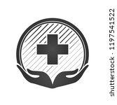 health care center logo. flat...