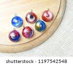 create galaxy drink coasters... | Shutterstock . vector #1197542548