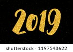 happy new year 2019 greeting...   Shutterstock .eps vector #1197543622