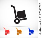 vector icon cart with box 10 eps | Shutterstock .eps vector #1197545782