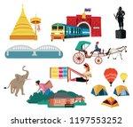 thailand northern region... | Shutterstock .eps vector #1197553252
