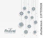 minimal white christmas...   Shutterstock .eps vector #1197555028