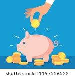 piggy bank. money box with... | Shutterstock .eps vector #1197556522