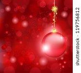 blurry lights on dark red...   Shutterstock .eps vector #119756812