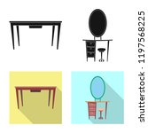 vector design of furniture and... | Shutterstock .eps vector #1197568225