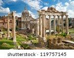 Roman Forum In Rome  Italy  It...