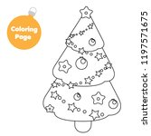 coloring page. new year... | Shutterstock .eps vector #1197571675