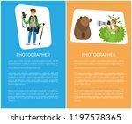photographer hiding in bushes... | Shutterstock .eps vector #1197578365