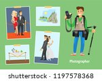 photographer with professional... | Shutterstock .eps vector #1197578368