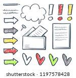 office envelope and arrowheads... | Shutterstock .eps vector #1197578428