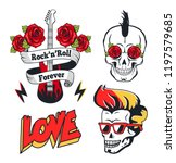 rock n roll forever isolated on ... | Shutterstock .eps vector #1197579685