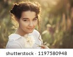 free happy woman enjoying... | Shutterstock . vector #1197580948