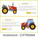 tractor husbandry machine... | Shutterstock .eps vector #1197582868