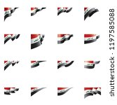 iraqi flag  vector illustration ... | Shutterstock .eps vector #1197585088
