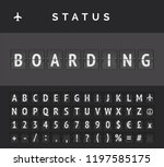 analog flip board timetable... | Shutterstock .eps vector #1197585175