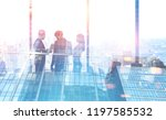 diverse business team members... | Shutterstock . vector #1197585532