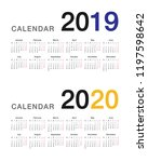 year 2019 and year 2020... | Shutterstock .eps vector #1197598642