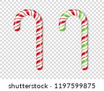 red and green candy canes on... | Shutterstock .eps vector #1197599875