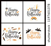set of cards with hand written... | Shutterstock .eps vector #1197601378
