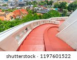 stair going down at the golden... | Shutterstock . vector #1197601522