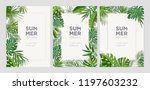 collection of vertical summer... | Shutterstock .eps vector #1197603232