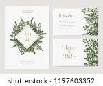 collection of romantic wedding... | Shutterstock .eps vector #1197603352
