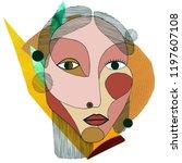 woman portrait in modern... | Shutterstock . vector #1197607108