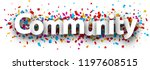 community banner with colorful... | Shutterstock .eps vector #1197608515