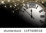 black and gold shiny 2019 new... | Shutterstock .eps vector #1197608518