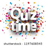 quiz time card with colorful... | Shutterstock .eps vector #1197608545