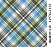 blue light tartan plaid... | Shutterstock . vector #1197615688