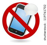 cell phone chat box  forbidden...   Shutterstock .eps vector #119761702