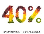 forty percent off made with...   Shutterstock . vector #1197618565