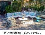 beautiful garden furniture | Shutterstock . vector #1197619672