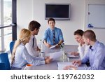 group of happy young  business... | Shutterstock . vector #119762032