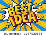 concept of idea. message best... | Shutterstock .eps vector #1197620995