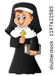 happy nun topic image 1   eps10 ... | Shutterstock .eps vector #1197622585