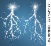 lightning and thunder bolt ... | Shutterstock .eps vector #1197624418