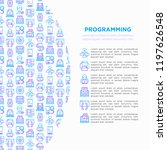 programming concept with thin... | Shutterstock .eps vector #1197626548