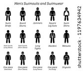 men swimsuits and swimwear.... | Shutterstock .eps vector #1197634942