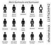 men swimsuits and swimwear.... | Shutterstock .eps vector #1197634942