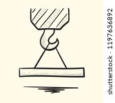 crane hook. hand drawn vector... | Shutterstock .eps vector #1197636892