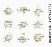 classy merry christmas and... | Shutterstock .eps vector #1197639772