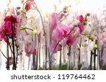 very nice orchidea background | Shutterstock . vector #119764462