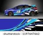 car wrap design vector. graphic ...   Shutterstock .eps vector #1197647662